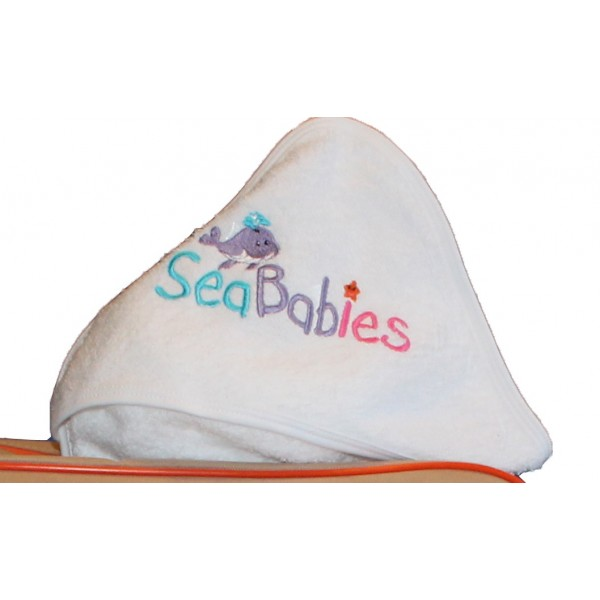 SeaBabies Baby Face Towel and Bath Towel