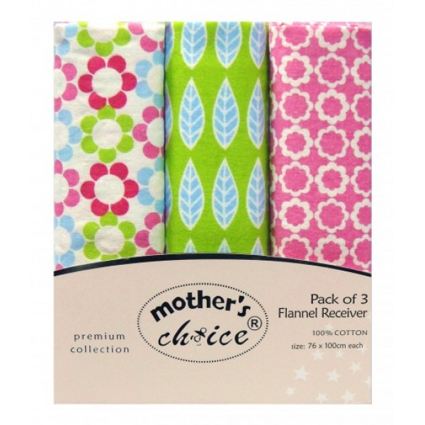 Pink and Green Floral 3pk Receivers